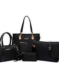 cheap -womens ladies 6 pcs handbag set hobo top handle bag totes satchels crossbody shoulder bags and purse clutch