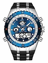 cheap -mens watches waterproof chronograph stainless steel analog quartz watch luminous digital analog wrist watch with rubber band