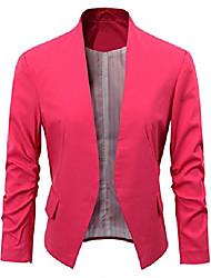 cheap -women's folding sleeve office blazer (tg00000 hot pink, m)