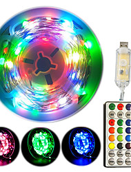 cheap -33Ft Fairy String Lights RGB Multi-color Dream Lamp String USB 100 LED Waterproof Color Changing Twinkle Lights with 32 Key controller