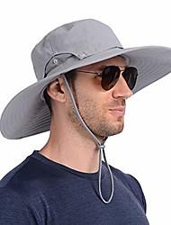 cheap -super wide brim fishing sun hat water resistant bucket hat for men or women light grey