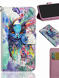 cheap -Case For Motorola MOTO E7 Moto E6S 2020 Moto G8 Power Lite Wallet Card Holder with Stand Full Body Cases Watercolor Owl PU Leather TPU for Moto G8 Moto G8 Plus Moto E6 Play