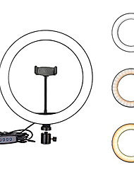 cheap -2pcs 1pcs 26cm 10inch LED Selfie Ring Light Dimmable LED Ring Lamp Photo Video Camera Phone Light ringlight For Live YouTube Fill Light