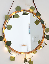 cheap -1X 2M Ivy Eucalyptus Leaves Fairy Garland Flexible String Lights For Xmas New Year Holiday Decoration Hanging Lighting AA Battery Power (Come Without Battery)