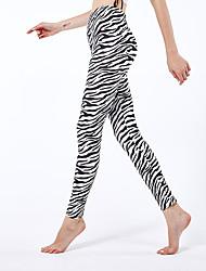 cheap -Women's Sporty Yoga Comfort Skinny Daily Leggings Pants Print Ankle-Length High Waist Black