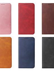 cheap -Case For Apple iPhone 11  Max Card Holder / Shockproof / Dustproof Full Body Cases Solid Colored PU Leather For Case iphone 11 Pro/11 Pro Max/7/8/7P/8P/SE 2020/X/Xs/Xs MAX/XR