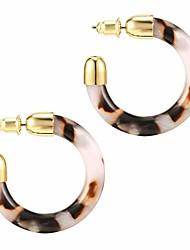 cheap -14k gold plated acrylic earrings for women - leopard print statement resin earrings | cheetah earrings for women