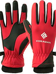 cheap -Winter Gloves Ski Gloves Women's Men's Snowsports Full Finger Gloves Winter Waterproof Skiing Winter Sports Cotton / Polyester Flocked Snowsports Winter Sports