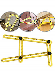 cheap -ABS Plastic Movable Four-fold Ruler Can Be Any Angle Metric And Inch Scale Multi-function High-precision Measuring Ruler.
