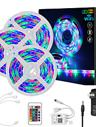 cheap -15M Smart WIFI LED Light Strips RGB Tiktok Lights SMD 2835 8mm Light With 24Keys 900LED  Not Waterproof DC12V With 3A US Power