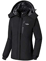cheap -women's mountain waterproof ski jacket winter raincoat black, xxl