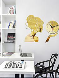 cheap -Home Creative DIY Watch Clock Girl Mirror 3D Acrylic Clock Silent Wall Clock Bedroom Modern Fashion Wall Sticker