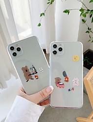 billige -etui til Apple iPhone 11 stødsikker / støvtæt bagcover ensfarvet / tegneserie tpu til taske iPhone 11 pro / 11 pro max / 7/8 / 7p / 8p / se 2020 / x / xs / xs max / xr