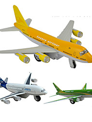 cheap -Boeing 747 Air Plane Model Aircraft Toys Cartoon Music & Light Pull Back Vehicles Plastic Alloy Kid's Adults All Toy Gift
