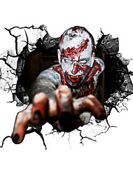 cheap -51*43cm New 3D Halloween Decorations Corpse Self Adhesive Wall Stickers Creative Indoor  Wall Decoration