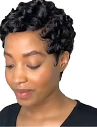cheap -Synthetic Wig Carrie Curl with Baby Hair Wig Long Natural Black Synthetic Hair 3-5 inch Women's African American Wig Black