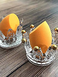 cheap -lemonadeus beauty blender holder makeup sponge holder crown glassware stand storage powder puff display stand(2 pack) (2 clear crown)