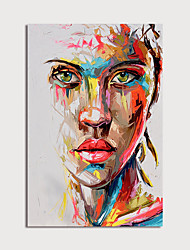 cheap -Oil Painting Hand Painted Vertical Abstract People Modern Stretched Canvas