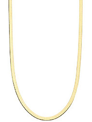 cheap -18k gold over sterling silver italian solid 3.5mm flexible flat herringbone chain necklace for women men 16, 18, 20, 22, 24, 26, 30 inch made in italy (30)
