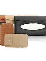 cheap -Genuine Leather Car Visor Tissue Holder with CD Holder Multi-Functional CD Organizer Visor Tissue Box Bag Card Slot for Car & Truck