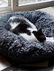 "cheap -orthopedic dog bed comfortable donut cuddler round cat bed (20""/24""/28""/39"")"