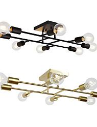 cheap -8-Light 71 cm Line Design Geometric Shapes Flush Mount Lights Metal Antique Brass Electroplated Painted Finishes Vintage Island 110-120V 220-240V / VDE / E26 / E27