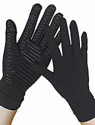 cheap -copper gloves - arthritis compression gloves full finger - touch screen - relieve arthritis, rheumatoid, rsi, carpal tunnel, tendonitis pain for women and men (pair) (m)