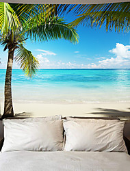 cheap -Wall Tapestry Art Deco Blanket Curtain Picnic Table Cloth Hanging Home Bedroom Living Room Dormitory Decoration Polyester Fiber Beach Series Coconut Tree Blue Sea White Cloud Blue Sky