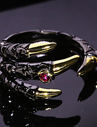 cheap -Adjustable Ring AAA Cubic Zirconia Two Stone Black Brass Bird Anime Vintage 1pc Adjustable / Men's