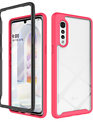 cheap -Case For LG LG K51 Stylo 6 Shockproof Transparent Back Cover Transparent Solid Colored TPU Acrylic PC