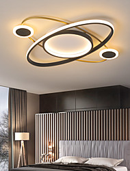 cheap -52 cm Planet Ceiling Light Nordic  Simple Modern Living Room Lamp Personality LED Bedroom Lamp Children Room Warm Household