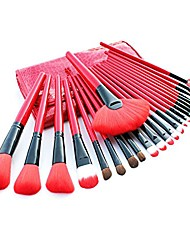 cheap -makeup brushes professional essential cosmetic 24 pcs makeup brush set with pu leather bag red crocodile leather bag