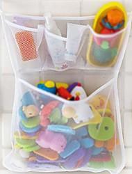 cheap -Mesh Bath Toy Organizer - Mesh Net Bin - Baby Bathtub Game Holder with Suction & Sticker Hooks Toddler Play Bathroom Storage Tray Bag Shower Caddy - Multi-use Net Bags Make Baby Bath Toy Storage Easy