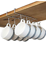 """cheap -coffee mug holder - 304 stainless steel 8 hooks cup rack under shelf, fit for the cabinet 0.8"""" or less"""