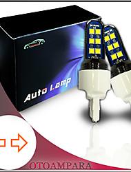 cheap -OTOLAMPARA 2PCS Car Turn Signal Light T20 12W 6000K Super Thin Front Turn Signal Light 7440 Fit for Honda Toyota