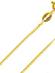"""cheap -0.8 mm magic diamond-cut box chain crafted necklace thin lightweight strong 16"""""""