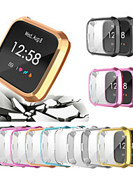 cheap -Anti Ultra thin Electroplated Soft TPU Case For Fitbit Versa Lite Full Cover Screen Protector Watch Accessories Shell