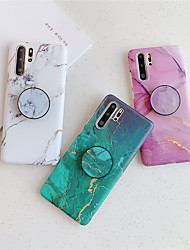 cheap -Case For Huawei scene map P40 P40 Pro P30 P30 Pro color marble pattern frosted TPU material IMD process the same pattern bracket phone case