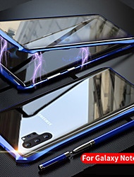 cheap -Case For Samsung Galaxy Note 10 / Galaxy Note 10 Plus Shockproof / Flip / Transparent Full Body Cases Transparent Tempered Glass / Metal Batman Design Four-Corner Anti-Fall Magneto Protective Case
