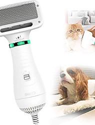 cheap -dog hair dryer pet dryer professional grooming blower dog slicker brush for medium pet small dog cat (white, 2 in 1 dryer)