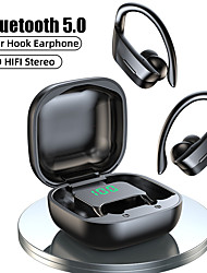 cheap -LITBest B12 TWS Wireless Headphones Bluetooth 5.0 Earphones 9D Hifi Stereo Sports Waterproof Headphone LED Display Earphone Ear Hook Headset