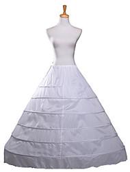 cheap -Wedding Slips Polyester Floor-length Wedding / Steel ring with Fringe