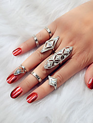 cheap -Ring Geometrical Silver Alloy Trendy 1 set 7 / Women's