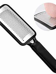 cheap -colossal foot file foot rasp, professional foot care pedicure stainless steel file to remove hard skin, surgical grade file, best callus remover for dry and wet feet