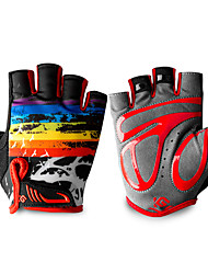 cheap -Bike Gloves / Cycling Gloves Anti-Slip Lightweight Breathable Quick Dry Fingerless Gloves Sports Gloves Lycra Black / Red Black+White Black / Blue for Child's Outdoor Exercise Activity & Sports Gloves