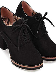 cheap -women ankle booties lace up high thick square chunky heel boots round toe shoes by lowprofile black