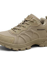 cheap -Men's Trainers Athletic Shoes Athletic Running Shoes Leather Black Khaki Fall Spring