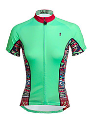 cheap -ILPALADINO Women's Short Sleeve Cycling Jersey Plus Size Bike Top Mountain Bike MTB Road Bike Cycling Breathable Quick Dry Ultraviolet Resistant Sports Clothing Apparel / Stretchy / Back Pocket