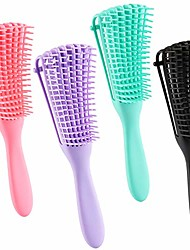 cheap -4 pack detangling brush for natural black hair detangler for afro america textured 3a to 4c kinky curly wavy eliminate knots while exfoliating your scalp and stimulate blood circulation