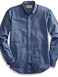 "cheap -amazon brand - men's ""the perfect oxford shirt"" standard-fit long-sleeve solid , indigo, medium"